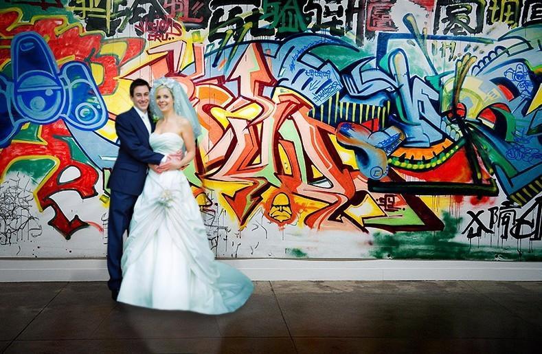 Свадебнная фотосессия граффити
