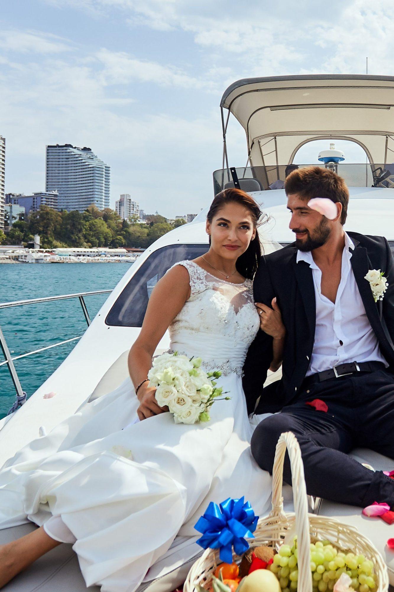 Морская прогулка на свадьбу